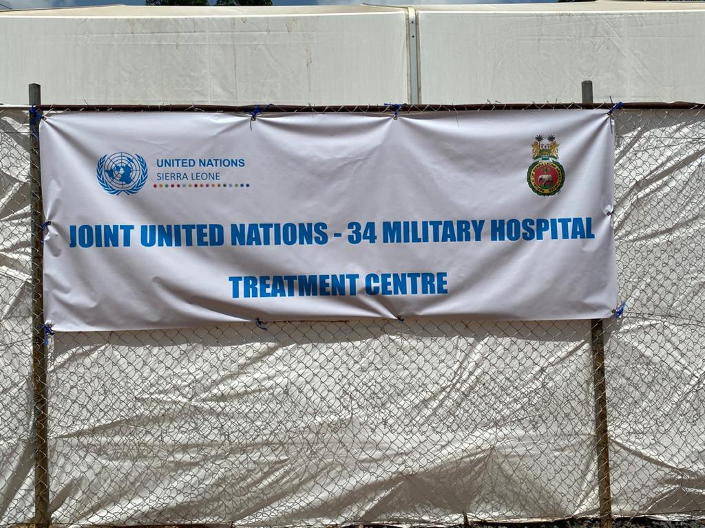 The treatment centre is just one part of the UN support to the COVID-19 preparedness and response efforts in Sierra Leone