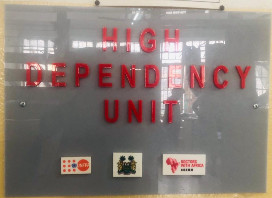 High Dependency Unit in PCMH ©UNFPA Sierra Leone /2020/ John Baimba Sesay