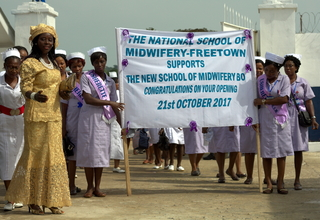 Midwives at the opening ceremony
