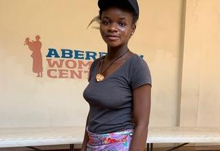 Finah Sesay, Fistula survivor, at Aberdeen Women's Centre @UNFPA/2019/Karen Davies
