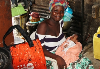 """Kadijatu chose to give birth in a health facility because, """"it is dangerous to give birth at home…there are potential serious complications if one chose to give birth at home. In some cases, this may lead to death or death of the newborn baby"""