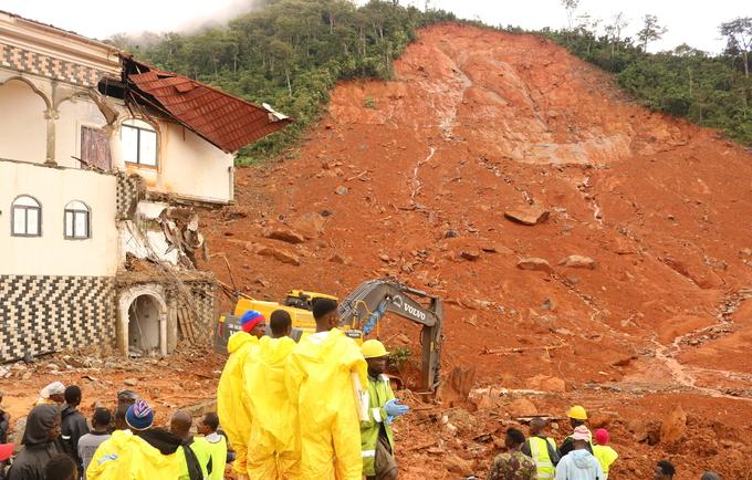 Epicentre of the landslide in Regent ©UNFPA Sierra Leone/2017/Angelique Reid
