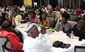 UNFPA and key partners at the High Level planning workshop. @UNFPA Sierra Leone 2017/Salim Sahid Kamara