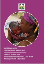 Maternal Death Surveillance and Response Annual Report 2017